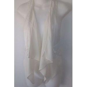 Anthropologie Leifsdottir Trendy White Vest
